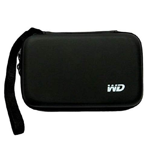 Cezo Hard Disk Drive Pouch case for 2.5″ HDD Cover for WD Seagate Slim Sony Dell Toshiba (Black)