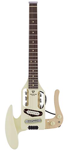 Traveler Guitar 6 String Solid-Body Electric Guitar, Right, Vintage White (PSM VWTGPF)
