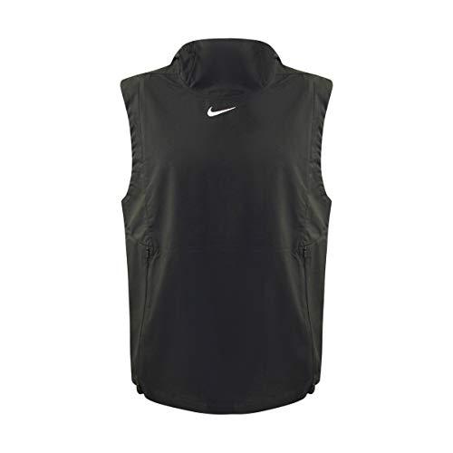(Nike Men's Alpha Fly Rush Hooded Training Vest (Black, Medium))