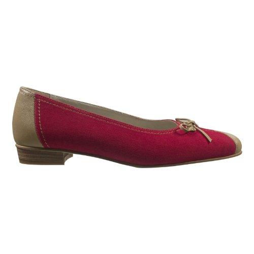 afis shoe-fashion 41162-305 Damen Schuhe Premium Qualität Ballerina Rot (rot-beige)