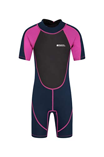 Pink Shorty Wetsuit - Mountain Warehouse Junior Shorty Wetsuit - Neoprene Kids Wetsuit Pink 7-8 years