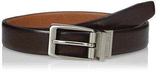 Geoffrey Beene Men's Feather Edge Reversible Dress Belt With Nickel Buckle, Brown/Tan, 36 ()