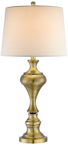 Brushed Brass Vase Table Lamp by Regency Hill Regency Brass Table Lamp