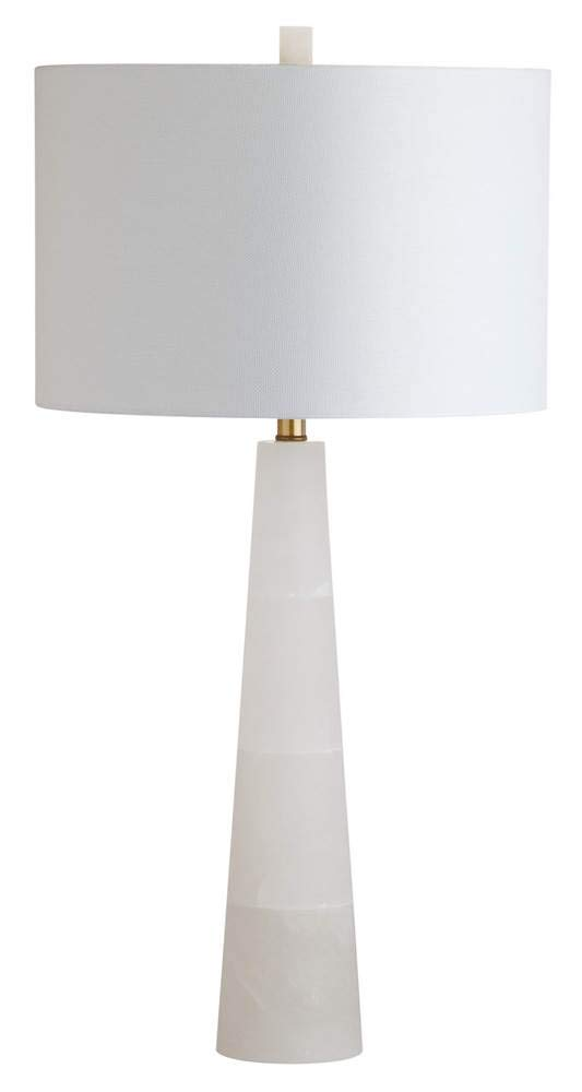 Safavieh TBL4067A Lighting Collection Delilah Alabaster White Table Lamp