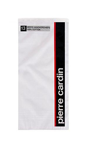 pierre-cardin-unisex-adults-handkerchief-100-cotton-16-l-x-16-h-white-13-piece