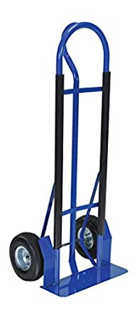 """Vestil WIRE-D-SHD-PN Hand Truck with Pneumatic Wheels for Wire Reel Caddy, 19"""" Length, 22"""" Width, 52"""" Height"""