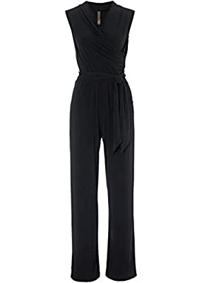 LovelyBridal Women One Piece Sleeveless Jumpsuit Elastic Waisted Long Pant