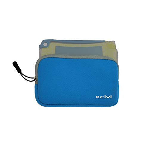 Xcivi Neoprene Sleeve Case for Boogie Board Jot 4.5 LCD eWriter and Jot 4.5 Clear View Writing Drawing Tracing Flash Cards (Blue)