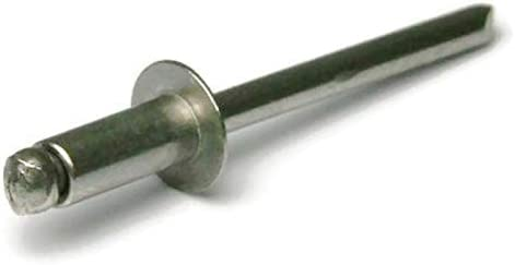 Stainless Steel Pop Rivets 3//32 Diameter #3 All 304 Stainless Steel Blind Rivets 3-2 0.032-0.125 3//32 x 1//8 Grip Qty 100