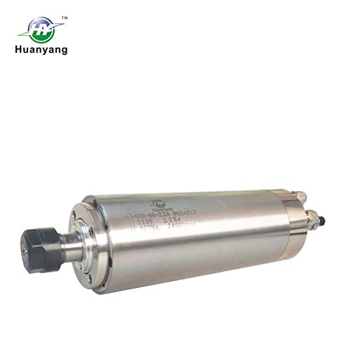 Huanyang Water Cooled CNC Spindle Milling Motor 110V 2.2KW 24000RPM 400hz ER20 Collet for Engraving Machine