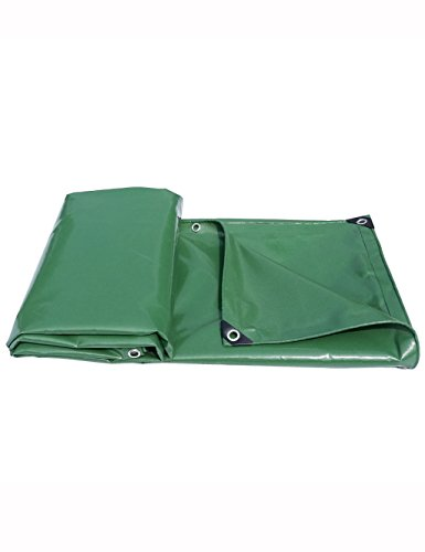PIPIXIA Heavy Duty Tarp Rain Cloth Canvas with Flame Retardant Watertight Waterproof Fireproof Sunscreen Durable Knife Blade Push and Pull for Top Cloth Car Fence Camping Tent (Size : 10' - Canvas Fence