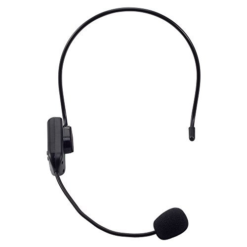WALLER PAA 30m Remote Wireless FM Transimitter Head-Mounted Microphone Headset (Go Pro Camera Head)