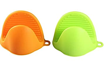 Lucky SLD 2 Pairs Silicone Hot Pads And Oven Mini Mitt, Silicone Pot Holder,