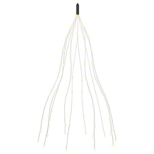 gresonic 100/200/300/400 led-lichtbundel 1 m/2 m zilverdraad Mirco lichtsnoer, werkt op stroom, decoratie voor binnen en…