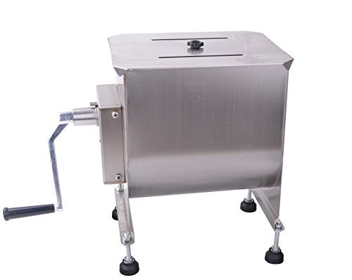 Hakka 20-Pound/10-Liter Capacity Tank Stainless Steel Manual Meat Mixers (Mixing Maximum 15-Pound for Meat) by HAKKA BROTHERS