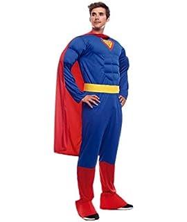 Disfraz de Héroe Musculoso para hombre talla M-L: Amazon.es ...
