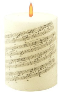 Music Pillar Candles Sheet Music Candle (japan Import)