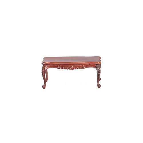 (Dollhouse Miniature Rococo Coffee Table, Walnut)