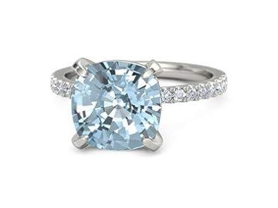 Forever Diamonds 5.10Ct Corte de cojín Piedras preciosas y ...