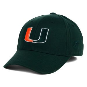 (Top of the World NCAA Miami Hurricanes Memory Fit Wool Blend Hat, One Size, Green)