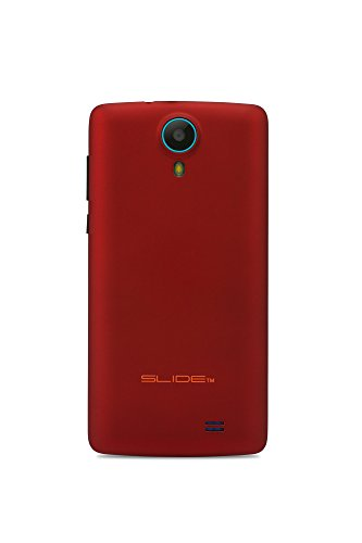 "Slide Dual Sim 4.5"" Android 6, Unlocked Smartphone, Quad Core 1GHz Processor, 8GB Storage, Nationwide 4G LTE - Red (SP4514)"