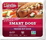 Lightlife Jumbo Veggie Hot Dogs 13.5 Oz (4 Pack)