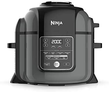 Ninja Foodi Max Electric Multi-Cooker [OP450UK] Pressure Cooker and Air Fryer, Grey/Black