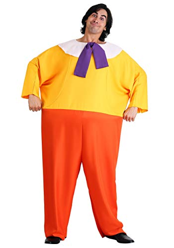 Tweedledee and Tweedledum Adult Costume Alice in Wonderland Costume Standard Red,Yellow