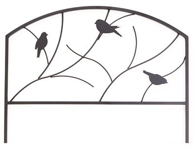 (10) sections Panacea 84565 18'' H x 24'' W Perching Birds Metal Garden Border Edge by PANACEA