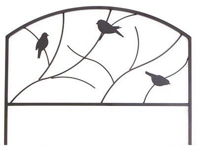 (5) sections Panacea 84565 18'' H x 24'' W Perching Birds Metal Garden Border Edge by Panacea