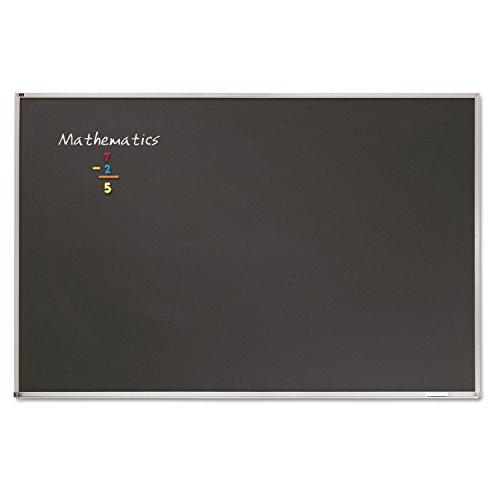 Quartet PCA304B Porcelain Black Chalkboard w/Aluminum Frame, 48 x 36, Silver by Quartet