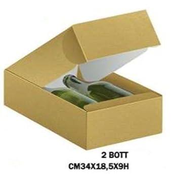 Cajas Vino de 2 botellas stese, cartulina oro relieve brillante, (Pack de 10 unidades): Amazon.es: Industria, empresas y ciencia
