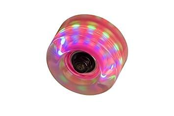 SFR - Set de ruedas para patines con luces (4 unidades) transparente transparente: Amazon.es: Deportes y aire libre