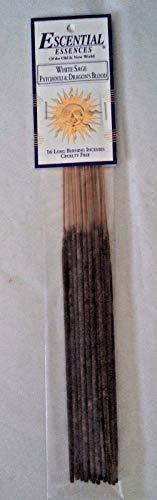 - Glob shop Escential Essences Incense Sticks: 16 White Sage, Patchouli & Dragon's Blood Mix