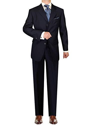 DTI GV Executive Italian Men's 3 Button 2 Piece Wool Suits Set Jacket Trousers (52 Regular US / 62R EU/W 46