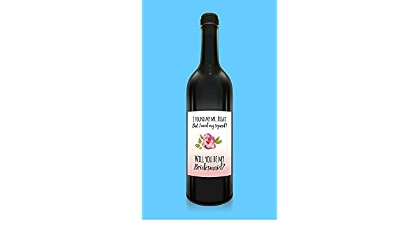 picture about Printable Wine Labels identified as : Printable Wine Label, Will Yourself Be My Bridesmaid