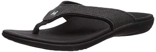 Spenco Men's Yumi Leather Sandal, Black, 8M Medium US