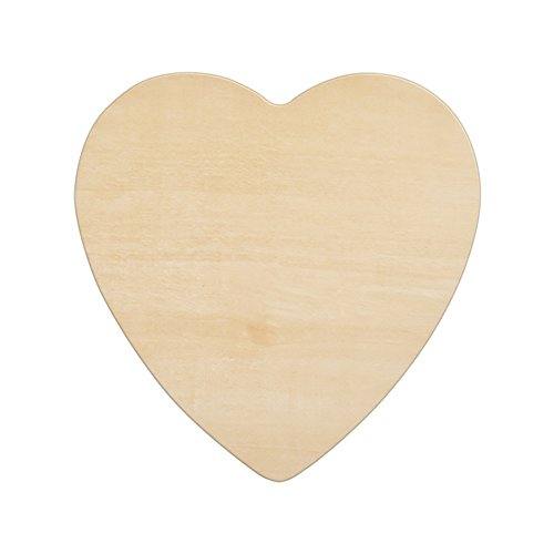 "Wood Shape Cut Out (Wood Heart 8-1/2 Inch, Unfinished Wooden Heart Cutout Shape, Wooden Hearts (8-1/2"" Wide x 1/8"" Thick) - Bag of 10)"