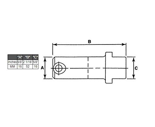 Fork Pin Kit Class III Forklift Part 5/8 X 2 1/16 X 5/8 CLARK YALE HYSTER KOMATSU