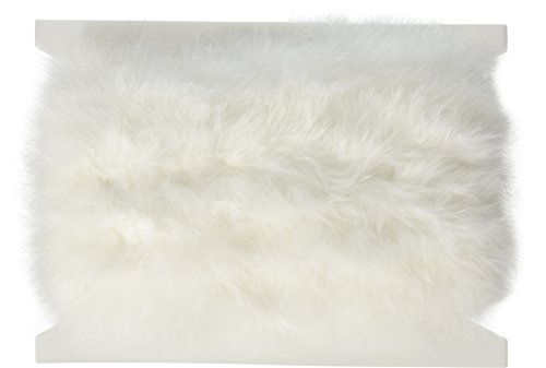 Marabou Feather Fur (Expo International Marabou Feather Boa Trim, 10 yd., White)