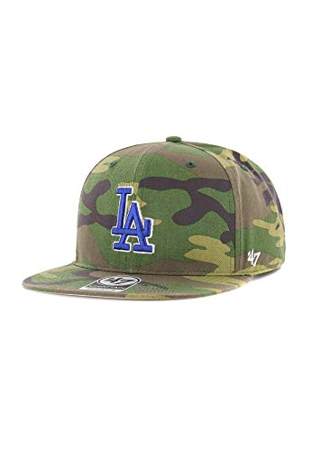 47_brand Gorra MLB Los Angeles Dodgers Captain Snapback Verde/marrón/Multi Talla: OSFA (Talla única para Todos sexos)