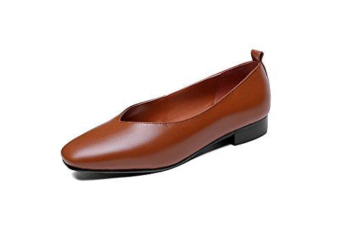 Peu Profonde Chaussures MEI Talons Femmes Plat Place LSM Bouche amp;S Occasionnels w1q8YYz