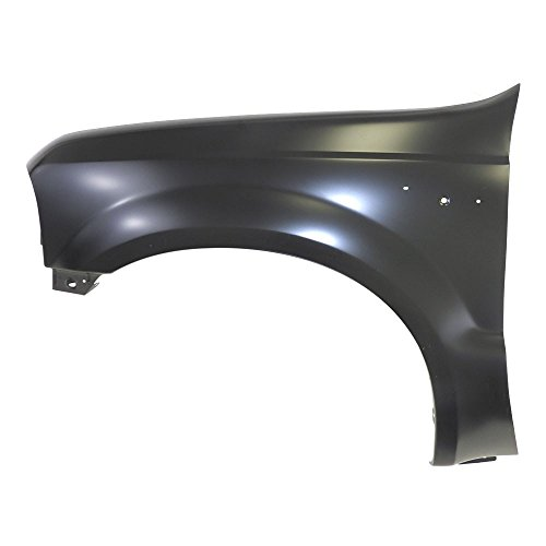 Front Fender Moulding (Titanium Plus 2001-2004 Ford Excursion | 1999-2007 Ford F-Serries Super Duty Front,Left Driver Side Fender WITHOUT WHEEL OPENING MOULDING HOLE,WITHOUT FENDER FLARE HOLE)