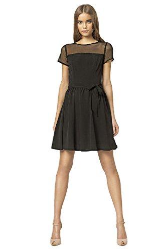 VictoriaV Nife Damen Kleid Cocktailkleid Partykleid Tülleinsatz ...
