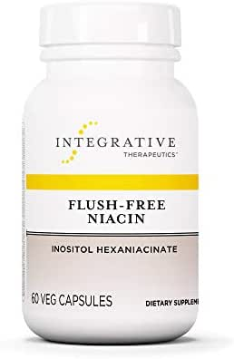 Integrative Therapeutics - Flush-Free Niacin - Inositol Hexaniacinate - 60 Capsules