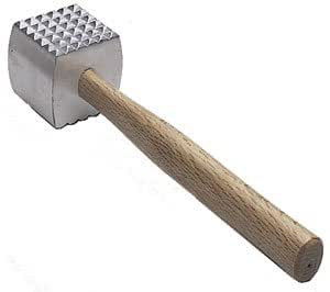 NEW, Extra Large Heavy-Duty Meat Tenderizer Mallet, Meat Tenderizer Hammer, Double-sided, Commercial-Grade, Wood Handle