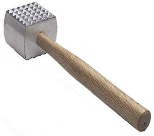 ... Mallet, Meat Tenderizer Hammer, Double-sided, Commercial-Grade, Wood
