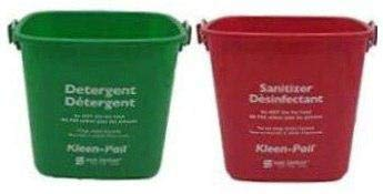 Kleen Red Pail - San Jamar KP97RD 3-Quart Red Kleen-Pail Container (3 Qt Red + 3 Qt Green)