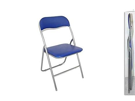 Sedie In Metallo Per Cucina : Due esse sedia pieghevole imbottita struttura in metallo per casa