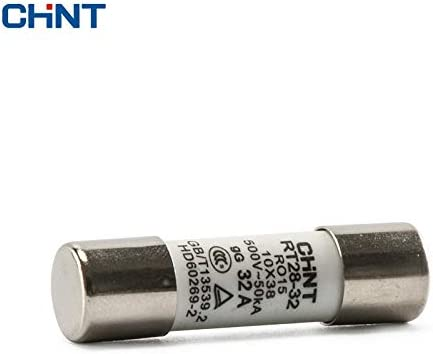 Davitu CHINT Cylinder Form Fuse RT28-32 AMP: 6A RT18-32 Core Fuse Insurance Tube 10 * 38mm -